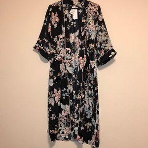 Floral Silk robe